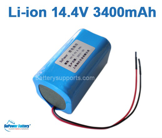 14.4V 14.8V 4* 18650 3400mAh 4S Lithium ion Li-ion Battery Brick